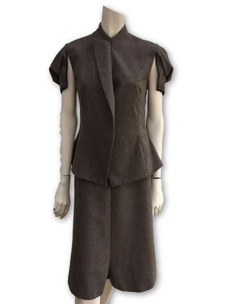 Yves Saint Laurent Wool Skirt 2-piece suit Ladies