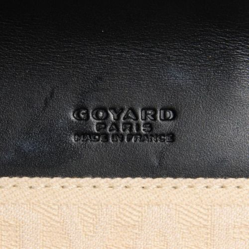 GOYARD Chevron Monte Carlo Bois Clutch Black Clutch Bag Ladies