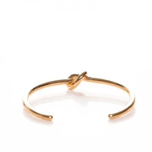 Celine Phoebe Philo Gold Knot Cuff Bracelet Extra Thin Knot Bracelet Medium Ladies