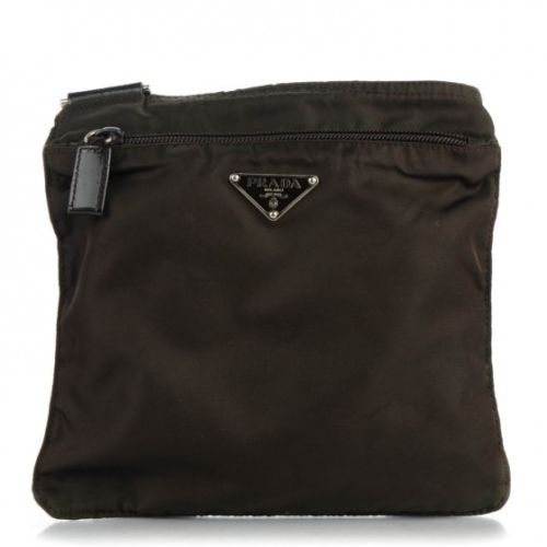 PRADA Nylon Vela Messenger Bag Brown Handbag Ladies
