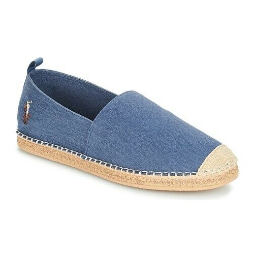 Ralph Lauren Polo Barron Twill Espadrilles Multi Player in Navy UK 8 EU 42 US 9 Men