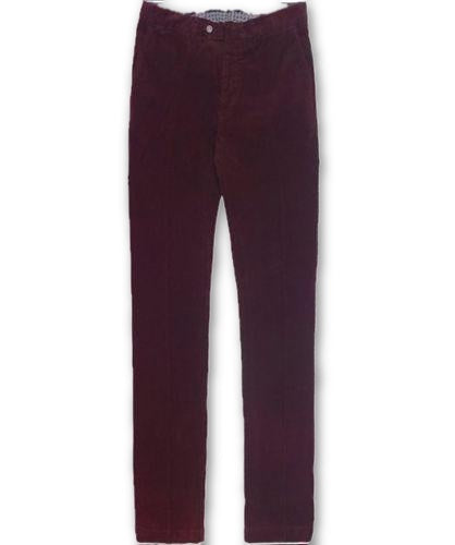 HACKETT LONDON MENS SANDERSON ASHBY WINE CORDUROY CORDS TROUSERS PANTS Men