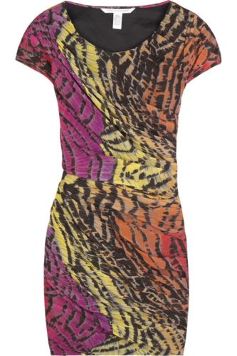 Diane von Furstenberg Erosa collectible Silk Dress DVF Size US 0 UK 4 XXS Ladies