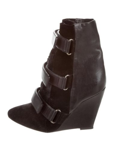 Isabel Marant Scarlet black wedge ankle boots booties shoes Ladies