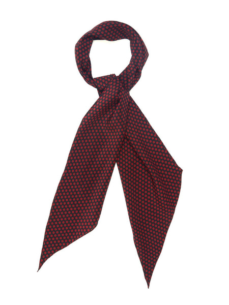Saint Laurent Polka-dot print silk-crepe neck scarf ladies