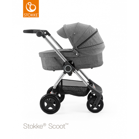 Stokke Scoot 3 in 1 Compact Buggy Pushchair Pram in Grey children