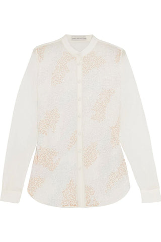 MARY KATRANTZOU Mika Silk Embellished Blouse US 2 UK 6 I 38 ladies