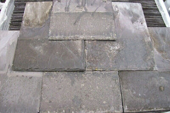 "Reclaimed 16"" x 12"" Welsh Purple Heather Blue Roofing Slate (per 100)"