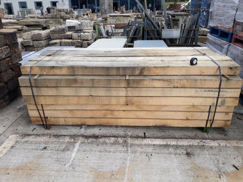 New European Oak Railway Sleepers 2.40m x 200mmx100mm