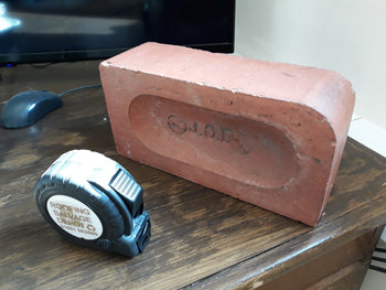 Batch Of 100 Reclaimed Single Bull Nose JCE Ruabon Red Facing Brick 3 1/8""