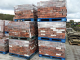 "Reclaimed JCE Ruabon Red Solid Wirecut Facing Bricks 3"" (Per 100)"