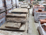 "Reclaimed Large York Stone Riven Textured Flags 3"" to 4"" Thick Per Square Yard"