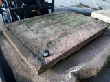 "Reclaimed Huge Red Sand Stone Flag Hearth Step Bench Threshold 50""""x 63.5"""