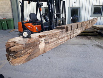 "Reclaimed Huge English Oak Beam Post Inglenook Bessemer 19ft 9"" Long"