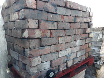 "Reclaimed Mixed Cheshire Red Solid Wirecut  Bricks 3"" (Per 100)"