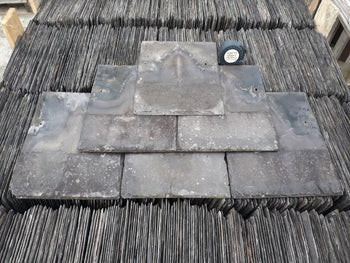 Batch of 3800 Reclaimed 13 x 10 Welsh Penrhyn Heather Purple Roofing Slate