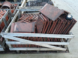 "Batch of 94 Reclaimed Angle Capped Red Roofing Ridge Coping 15"" Long 120 Deg"