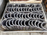 "Batch of 47 Reclaimed Staff Blue Half Round Ruabon Roofing Ridge Coping 12"" Long"