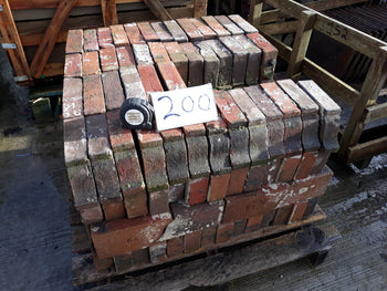 Reclaimed Batch of 200 Hand Made Cheshire Red Corbel Brick Plinths 2""