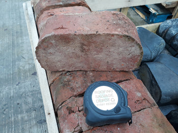 Batch Of 75 Reclaimed Handmade Double Bull Nose Cheshire Red Wall Coping Bricks