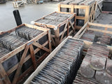Batch of 3190 Reclaimed Handmade Brindle Bullnose Club Roofing Tiles