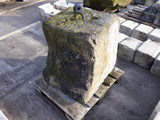 "Reclaimed Large York Stone Tethering Stone Boulder Block Folly 24"" Tall"