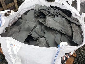 Bulk Bag Reclaimed Broken Welsh Slate Chippings Packing Min 600Kg