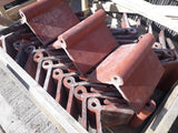 "Batch of 36 Reclaimed Ruabon Roll Top Red Roofing Ridge Coping 12"" Long 105 Deg"