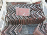 "Batch of 54 Reclaimed Angle Capped Red Roofing Ridge Coping 12"" Long  105 Deg"