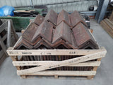 Batch of 130 Reclaimed Brindle Barn Clay 90 to 105 Degree Ridge Tiles Dry Fix