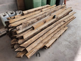 Batch Of 50 Reclaimed English Oak Rafters Beams Min 6ft to 7ft Long
