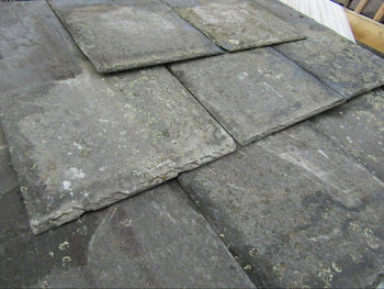 Reclaimed 20 x 10 Welsh Ffestiniog Grey Roofing Slate (per 100)