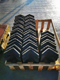 Batch of 40 Reclaimed Blue Clay 105 Degree Vented Ridge Tile Bat Access Ridge