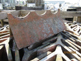Batch of 23 Reclaimed Red Decorative Crested 75 Degree Clay Ridge Tiles