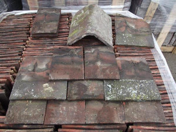 Reclaimed Rosemary Red Hand Made Clay Plain Roof Tiles (Per 100)