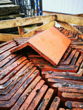 Reclaimed Red Clay Plain Angle Roofing Ridge 90 - 115 Degrees