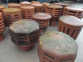 Reclaimed Clay Gas Chimney Inserts