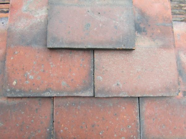 Reclaimed Plain Clay Roof Tiles Rosemary Red Machine Made (Per 100)