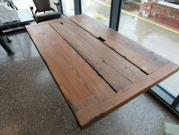 Pitch Pine Refectory Table Made From Victorian Truss Timber 5ft Long