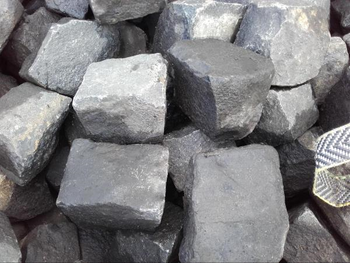 "Reclaimed Very Dark Approx 4"" x 4"" Random Granite Cubes / Cobbles (per tonne)"