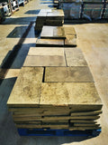 "Reclaimed Smooth York Stone Wall Coping 12"" Wide (Price Per Foot)"