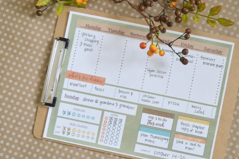Fall Fun Weekly Planner