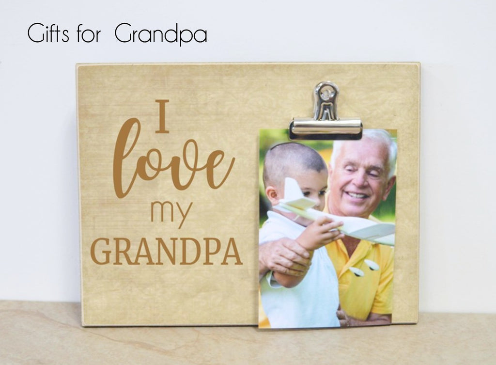 fathers day gifts for grandpa, custom photo frames personalized for grandpa