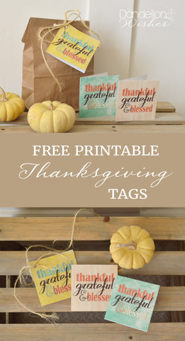 free thanksgiving gift tag, thanksgiving greeting card, thanksgiving printable, thankful grateful blessed printable