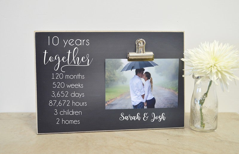 10 years together wedding anniversary frame