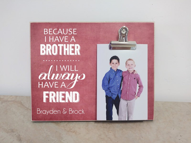 brothers picture frame, boys bedroom decor, brothers gift
