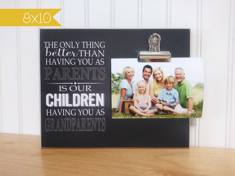 grandchildren photo frame - the only thing better than having you as parents is our children having you as grandparents