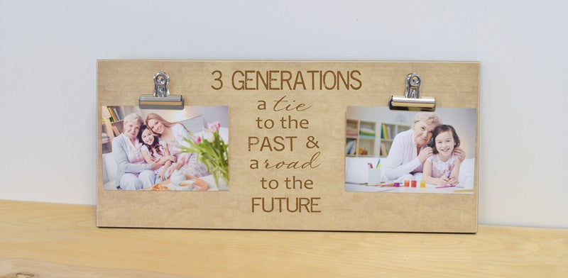 three generations - a tie to the past and a road to the future, custom photo frame grandparents gift, 4 generations gift, 5 generations gift