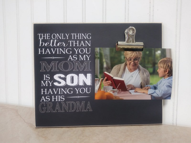 grandson and grandma photo frame, mothers day gift idea ,gift for grandma