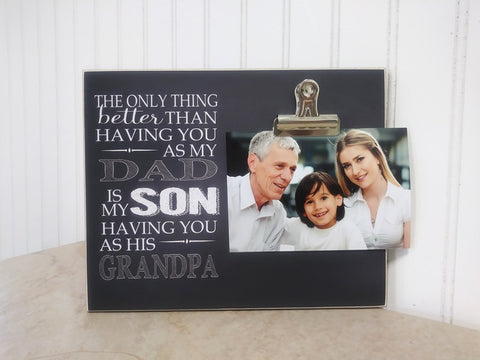 grandson and grandpa photo frame gift for grandpa